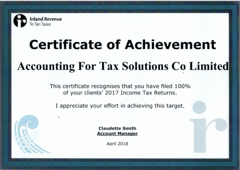 Accounting for Tax Solutions NZ Limited – For All Accounting and Tax